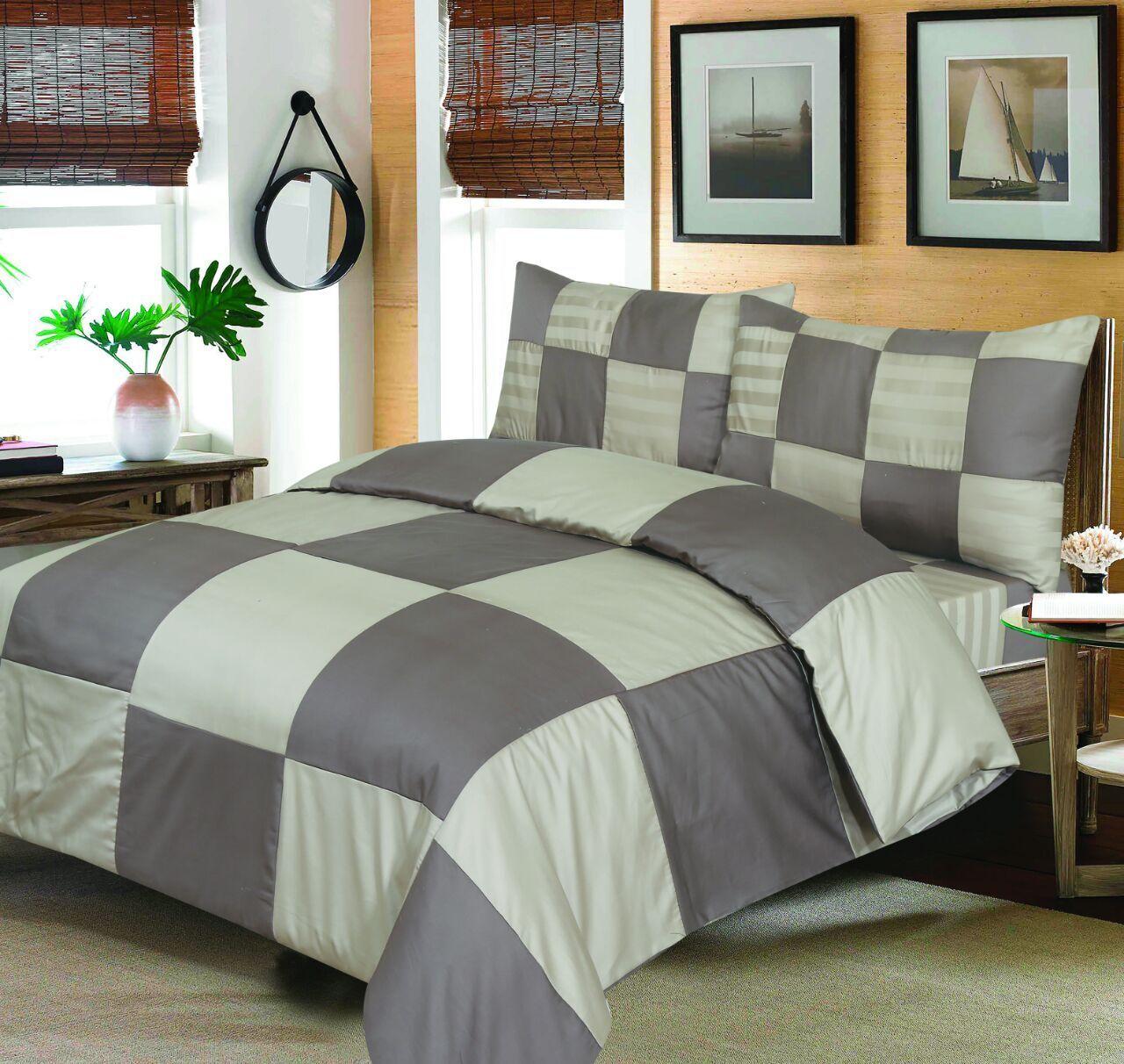 300TC, 100% Cotton Bedding set, complete duvet set pillow cases+sheet all sizes