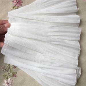 2yds-Elastic-Ruffle-Lace-Edge-Trim-Chiffon-Pleated-Ribbon-Sewing-8-66-039-039-Width