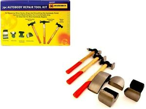 7PC-CAR-AUTO-BODY-PANEL-REPAIR-TOOL-KIT-WITH-WOODEN-HANDLES-BEATING-HAMMERS