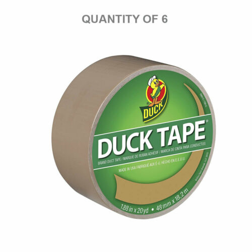 Duck Brand #283264 20-Yard Beige Duck Tape 6-Pack