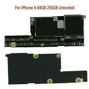 For iPhone X 64GB 256GB Unlocked Main Logic Motherboard Without Face ID Repair