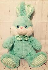 Kellytoy Plush Pastel Green Easter Bunny Rabbit 20 IN Big Ears Bowtie Big Feet