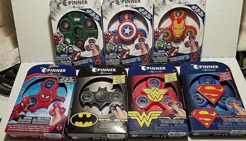 NEW Zuru Fidget Spinner Kid/'s Toy DC Comics Batman Superman Wonder Woman Hulk