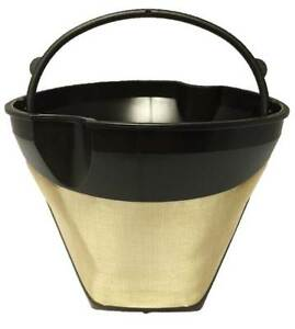 cone shaped permanent coffee filter with finger grips for braun coffeemakers ebay. Black Bedroom Furniture Sets. Home Design Ideas