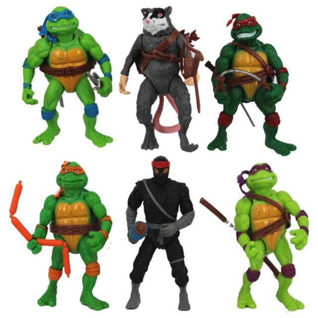 6pcs Teenage Mutant Ninja Turtles Action Figures Classic Collection Toy Set WSN#