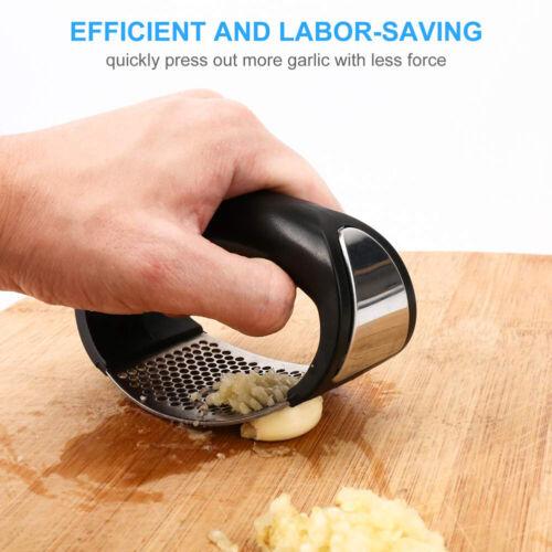 Garlic Press Squeezer Crusher Manual Stainless Steel Fast Masher Kitchen Tools