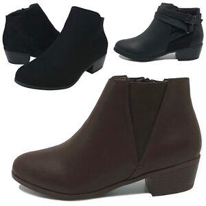 New Women's Ankle Boots Low Heel Short