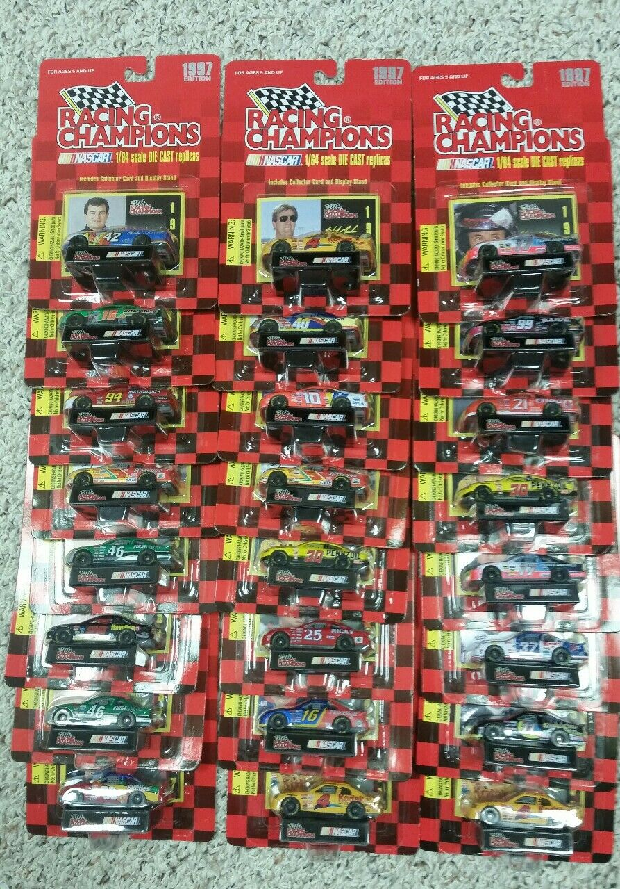 LOT OF 26  RACING CHAMPIONS 1997 EDITION NASCARS MANY DRIVERS 1 64 SCALE