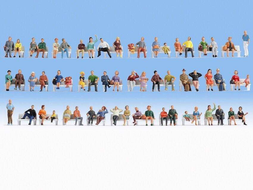 NOCH 18402 Spur H0, Mega-Spar-Set Figuren,  Sitzende  60 Figuren  NEU in OVP