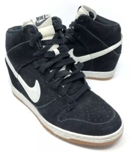 25c05dc6d263 Nike Dunk Sky High Womens US Sz 8.5 Sneaker Boot Hidden Wedge Black ...