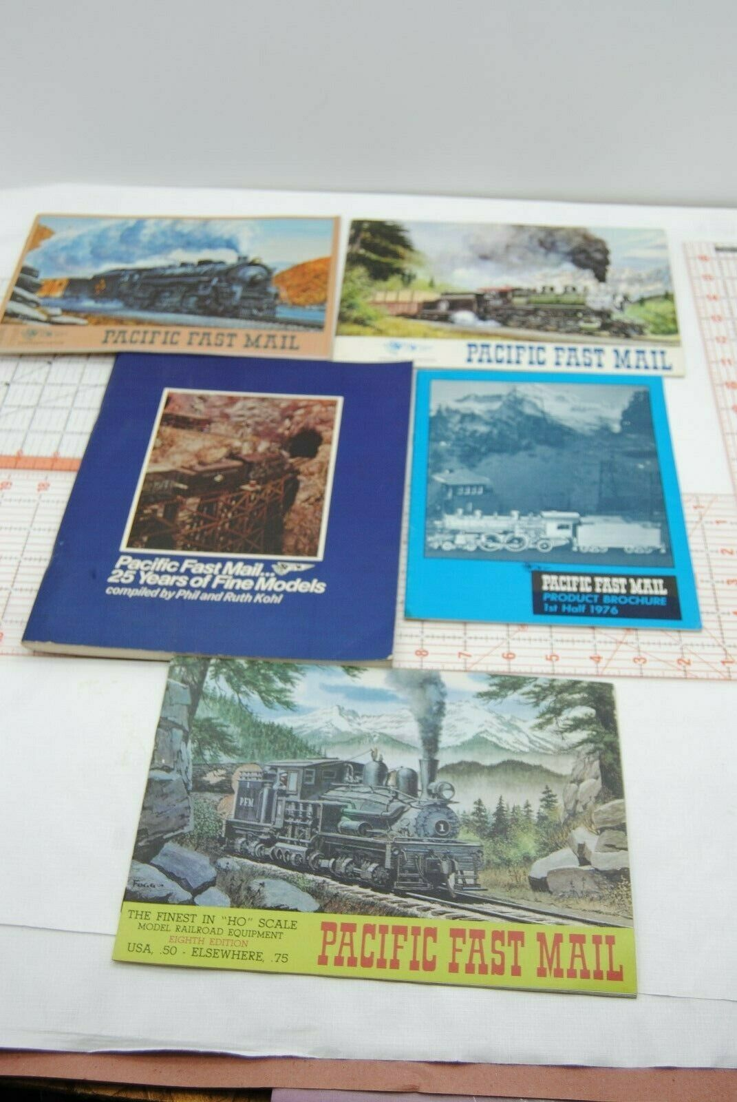 5 vintage PACIFIC FAST MAIL all different EDITIONS CATALOGS W PRICE LISTS