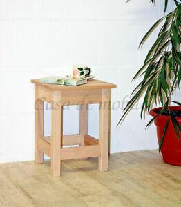 Massivholz Sitzhocker Kernbuche Roh Holz Blumen Hocker Flur Eck Beistell Konsole Ebay
