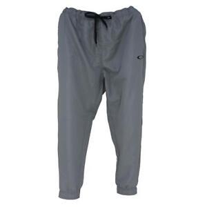 Oakley O PANT Mens Size L Large 34 Sheet Metal Grey Casual Track Running Pants