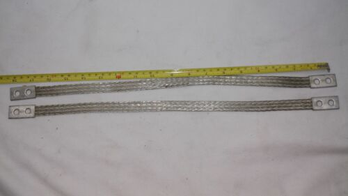 """USA MADE 8 AWG QTY:2 18/"""" x .062/"""" x 5//8/"""" Universal Ground Straps Tinned Copper"""