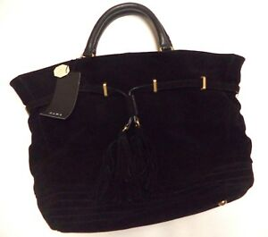 34d6a1b3 Details about Zara women's Holdall black leather handbag with chain detail  NWT bag