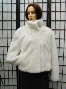 BRAND-NEW-WHITE-MINK-FUR-BOLERO-JACKET-WOMEN-WOMAN