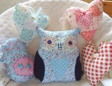 Patchwork Owl Bird & Hearts Cushion Kit Childrens Sewing Craft Kit Sewintocrafts