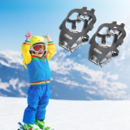18 Teeth Anti-Slip Ice Snow Climbing Shoe Covers Spike Cleats Crampons Gripper