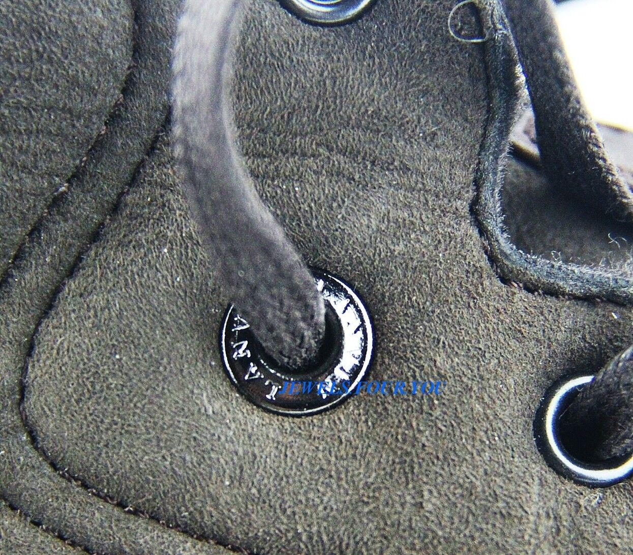LANVIN LANVIN LANVIN Marronee 100% LEATHER SHEARLING FUR RUBBER SOLE TALL scarpe  ITALY   28 NEW cb7c5c