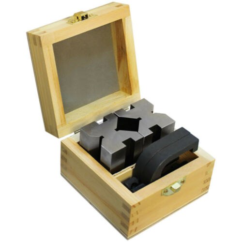 """90 Degree V-Block and Clamp Set Hardened Steel 1-5//8/"""" x 1-3//4/"""" x 2-3//4/"""""""