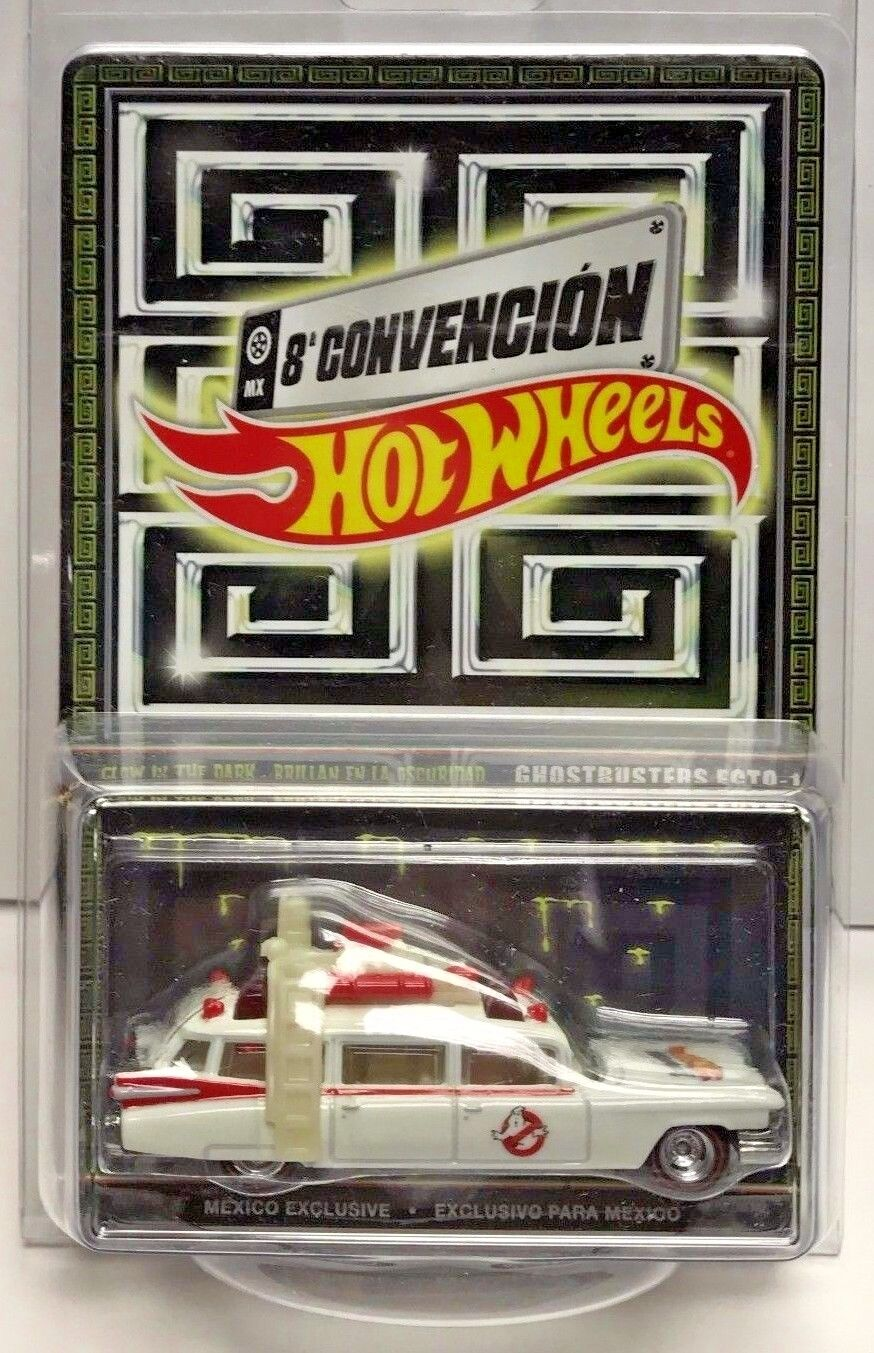 Hot Wheels 2015 - 8th Mexico Convention Glow in Dark Ghostbusters Ecto-1  d 4000