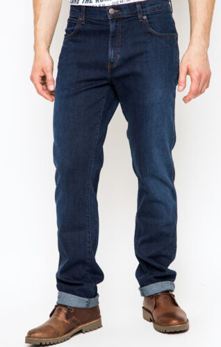 secondi WA37 Da Uomo Ex Wrangler Texas Jeans Stretch Pioggia pronto RRP £ 85