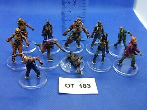 RPG-Rol-Modern-Apocalypse-Zombis-Variados-de-Zombicide-x11-Pintados-OT183