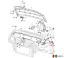 NUOVO Originale VW Caddy 04-16 TOURAN 03-16 LHD Cofano Rilascio Maniglia Staffa