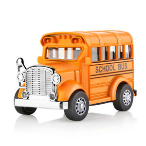 Alloy-School-Bus-Model-Car-Diecast-Pull-Back-Vehicle-Light-amp-Music-Kids-Toy-GG