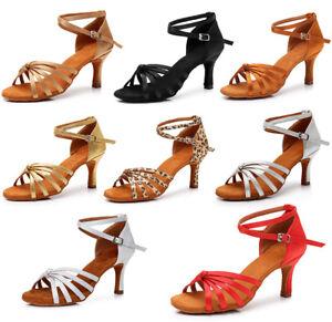 Detalles de Salón de baile zapatos de baile latino para mujeres Damas Niñas Tango salsa