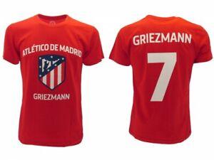buy cheap abb3a ec67d Details about T-Shirt Griezmann Atletico Madrid Official Original Red 7  Antoine Atm