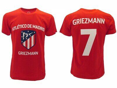 T-shirt Griezmann Atletico Madrid Ufficiale Originale Rossa 7 Antoine Atm