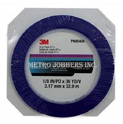 1//4 in x 36 yd 1 Roll 3M 06405 Blue Vinyl Fine Line Masking Tape 471
