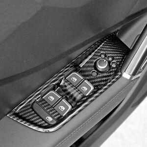 Carbon-Look-innen-Fensterschalter-Uberzug-Chrom-Panel-fuer-Audi-Q2-ab-2016