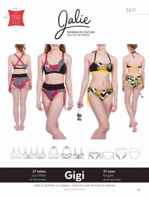Jalie Gigi Bikini 2 Piece Swimsuit Swim Suit Swimming Sewing Pattern ...