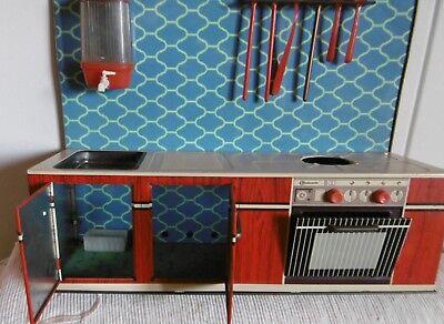 Blechspielzeug Küchenzeile 60 Er Rar Rot Bauknecht Puppenküche