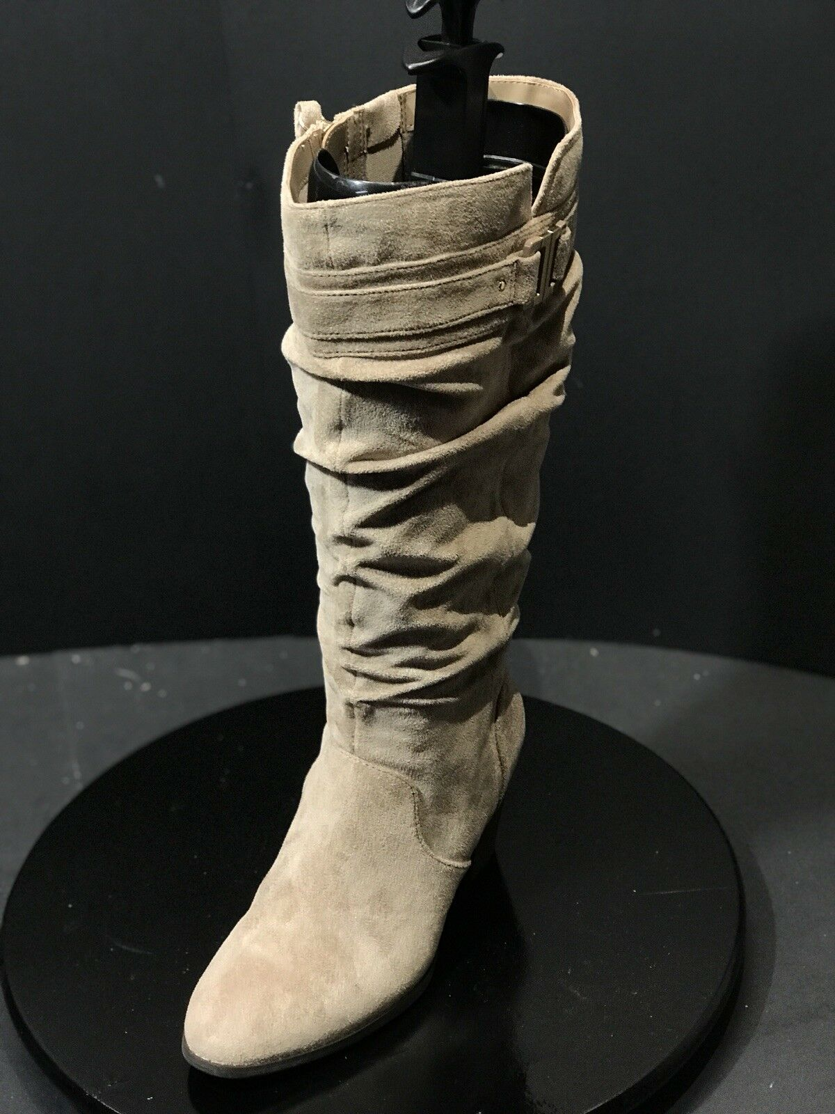 Dr. Scholl's Devote Beige Wide Calf Knee High Boot Size US 6.5 M