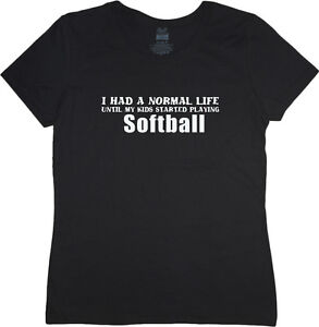 d5bfc4ba Ladies t-shirt Softball Mom funny saying women's size tee shirt   eBay