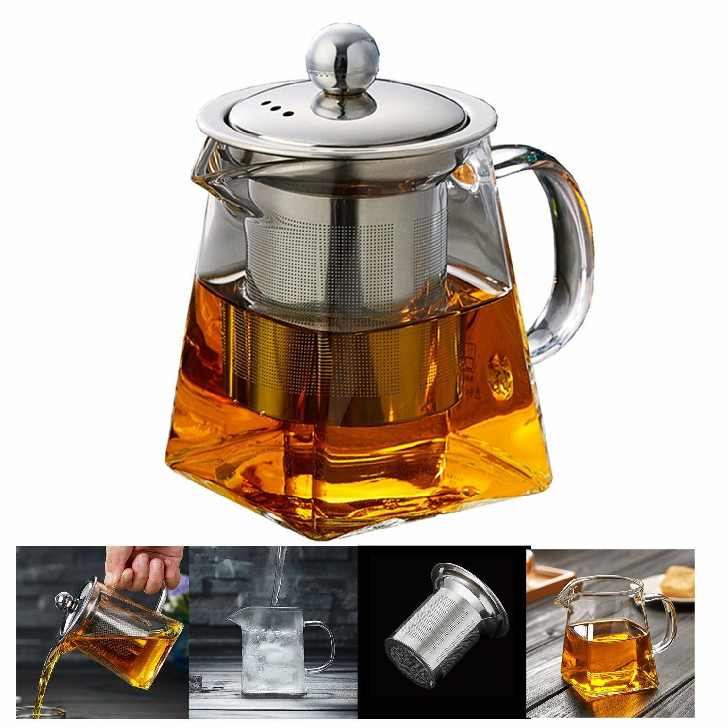Tea of Crystal 10.1oz with Infuser of Steel Stainless Resistant Heat Resistant