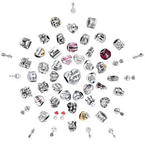 Fimaly-Love-Charms-Bead-Fit-925-Silver-Sterling-Bracelets-Necklace