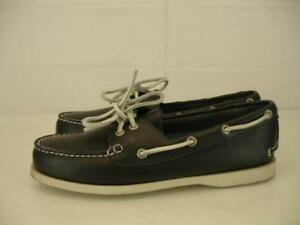 8d53a64d60d Womens 9.5 M G.H. Bass   Co. Castoff Navy Blue Leather Boat Shoes ...