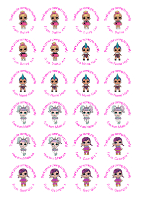Lol Party Bag Sweet Cone Stickers 30 Stickers