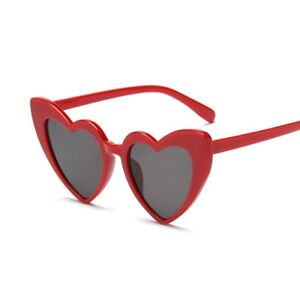 5f5f4070f1c619 Lunettes de Soleil Vintage Coeur Rouge Style Chat WARBLADE  EBAX   eBay