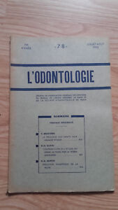 Rivista Mensile - ODONTOLOGIA - 73ème Anno - Juillet Agosto 1952, N° 7 & 8