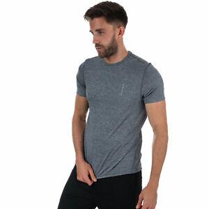 Mens-henri-lloyd-Ignite-Manga-Corta-Camiseta-De-Manga-Corta-en-Azul-Marino-Acanalado