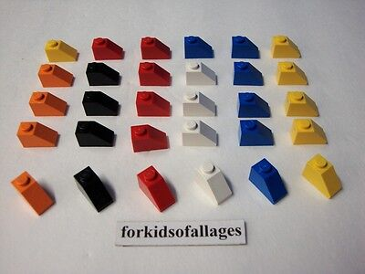 Lego 2x2 Slope Curved Black Blue Green Orange Gray Brown Red White YOU CHOOSE