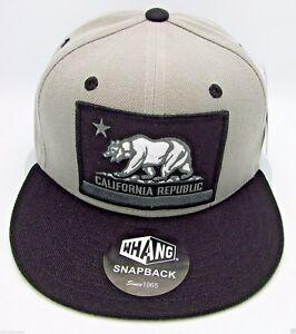 CALIFORNIA REPUBLIC Snapback Cap Hat CALI Bear Flag White Red Caps Hats NWT
