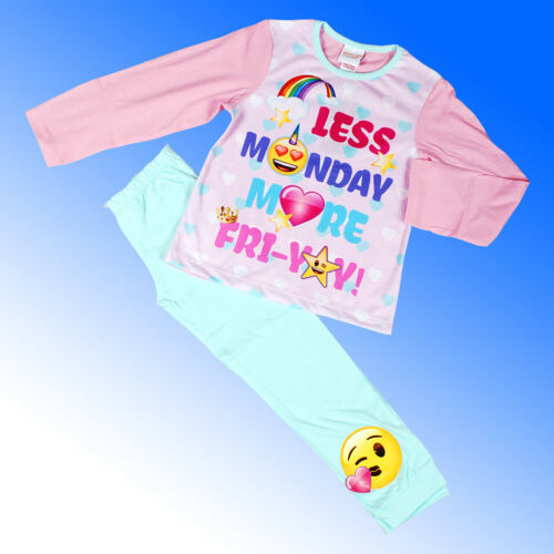 Girls Branded Emoji Pyjamas Unicorn Mermaid Girl Power Pyjama Age 6-13 Years