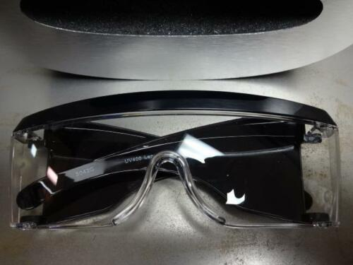 OVERSIZE HUGE SHIELD Style Clear Lens PARTY CLUB SUN GLASSES Black Fashion Frame