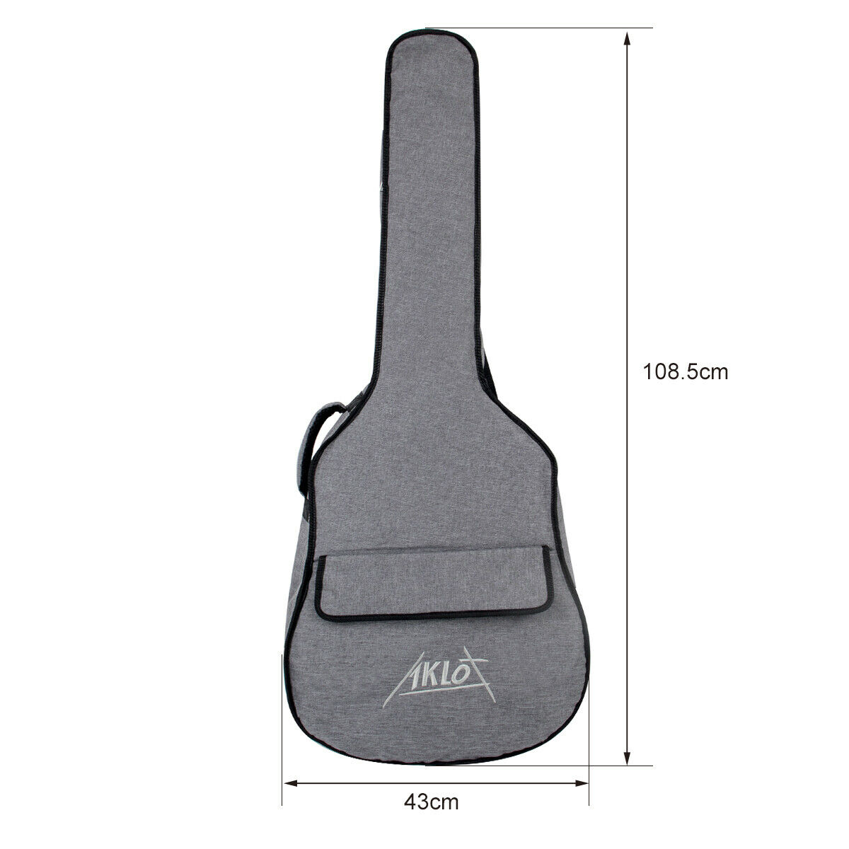 Aklot Guitar Gig Bag Padded Backpack for 41 inch Acoustic Classical Guitar Gray